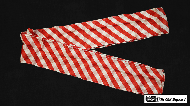 Production Streamer Zebra 6 inch  x 18 feet (Red and White) by Mr. Magic - Trick