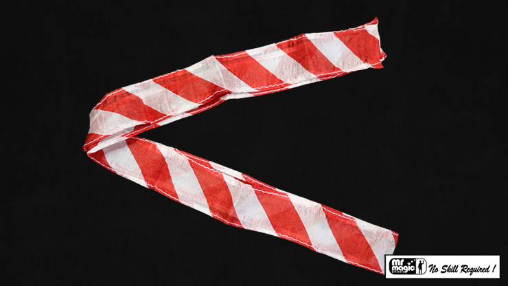 Thumb Tip Streamer Zebra 3' (Red & White) - Mr. Magic
