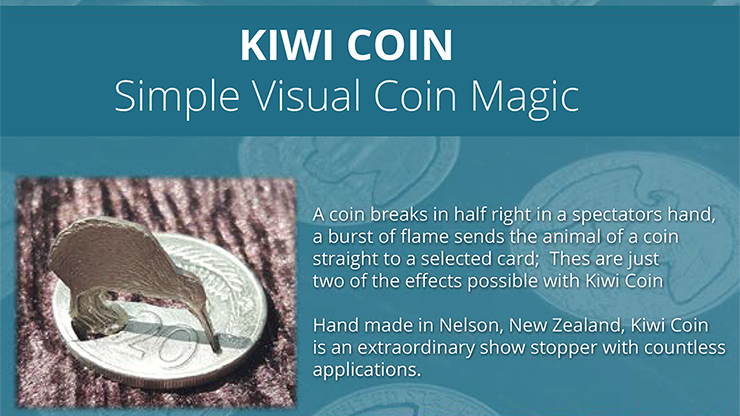 Kiwi Coin (US Quarter) by Steve Wilbury - Trick