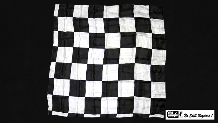 "Production Hanky Chess Board Black and White (21"" x 21"") by Mr. Magic - Trick"