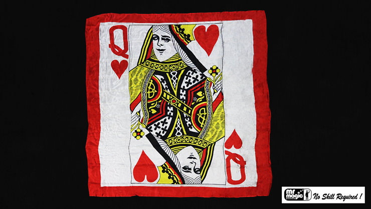 "Production Hanky Queen of Hearts (36"" x 36"") by Mr. Magic - Trick"