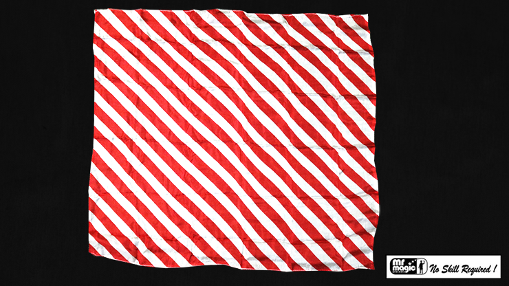 "Production Hanky Zebra Red and White (21"" x 21"") by Mr. Magic - Trick"