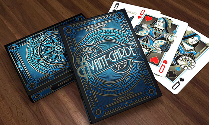 Avant-Garde United Cardists 2017 Playing Cards - Edgy Brothers (Blue)