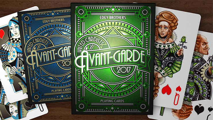 Avant-Garde United Cardists 2017 Playing Cards - Edgy Brothers (Green)