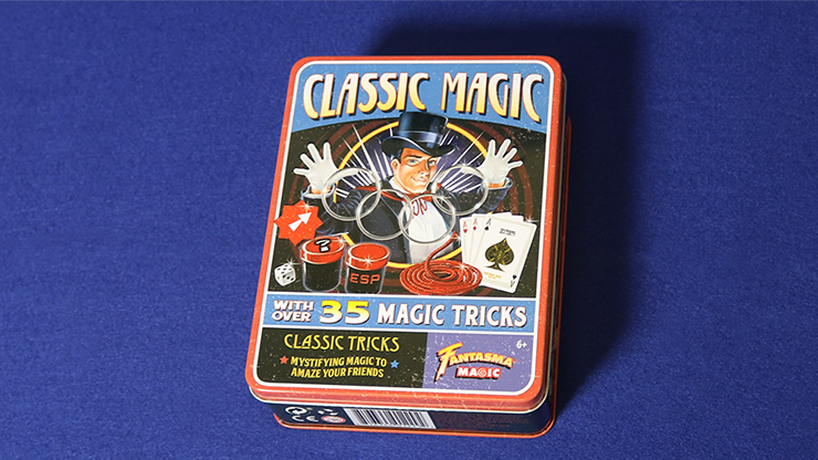 Retro Classic Magic Kit (Tin of 35 Tricks) - Fantasma Magic