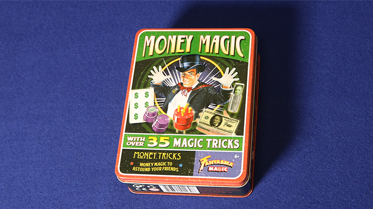 Retro Money Magic Tricks Kit (Tin of 35 Tricks) - Fantasma Magic