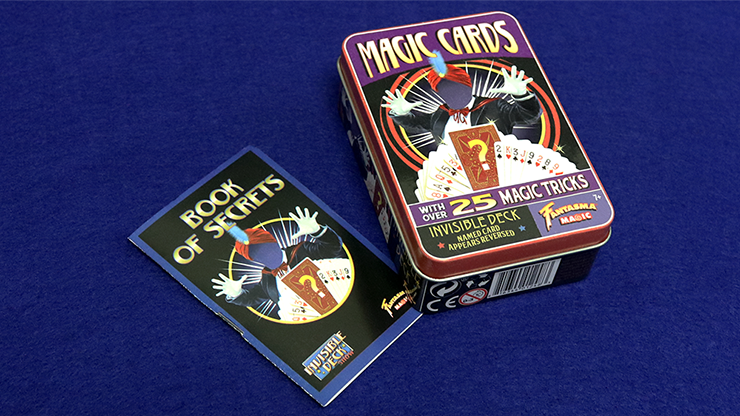 Retro Invisible Deck Kit (XRAY) (Tin of 25 Tricks) - Fantasma Magic