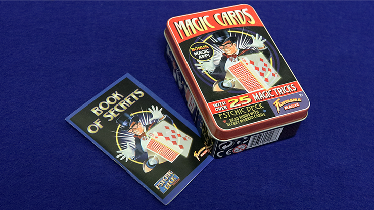 Retro Psychic Deck Kit (Tin of 25 Tricks) by Fantasma Magic