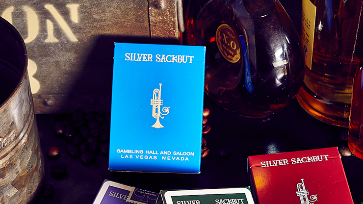 Silver Sackbut Playing Cards (Blue)