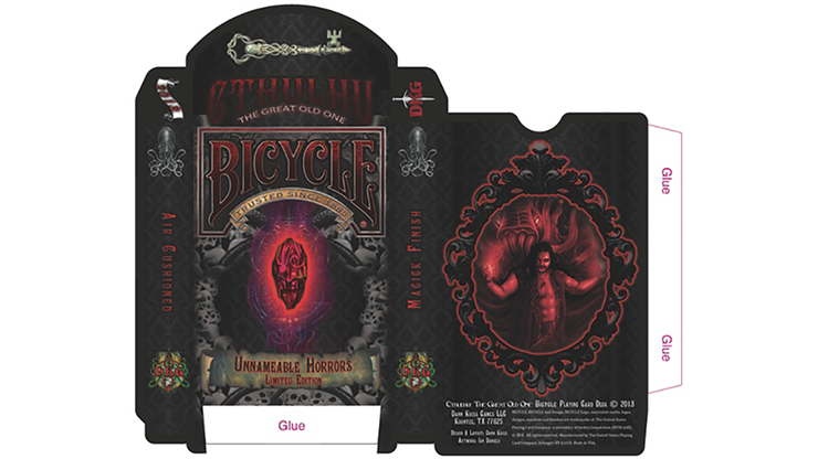 Cartas Bicycle Unnameable Horrors - Cartas Bicycle Edicion Limitada
