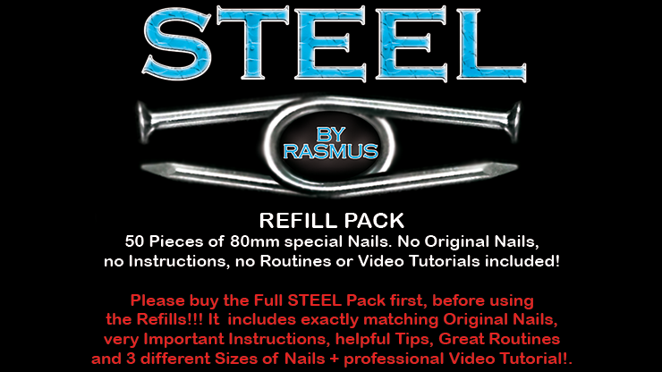 STEEL Refill Nails 50 ct. (80mm) by Rasmus