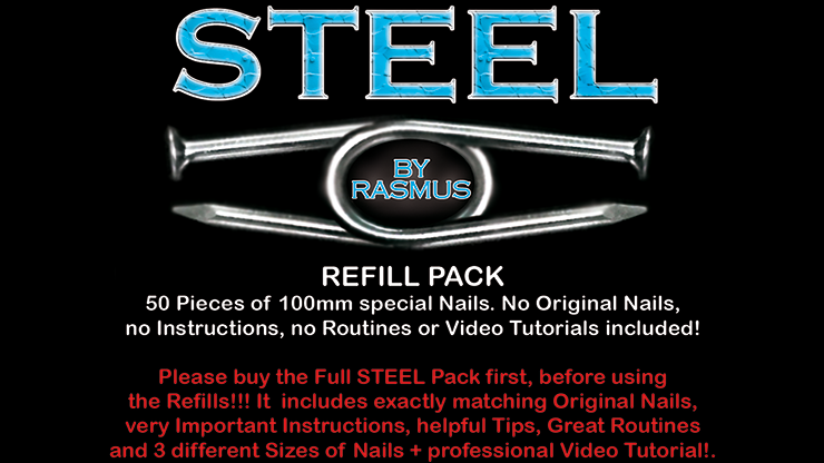 STEEL Refill Nails 50 ct. (100mm) - Rasmus
