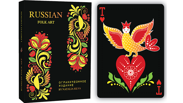 Russian Folk Art Limited Edition (Black) Printed by USPCC