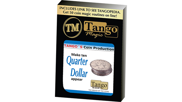Tango Coin Production - Quarter D0185 (Gimmicks and Online Instructions) by Tango - Trick