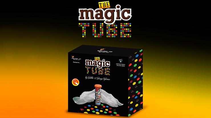 The Magic Tube by Gabbo Torres & George Iglesias Seidentuch zu echten M&M's in Röhre