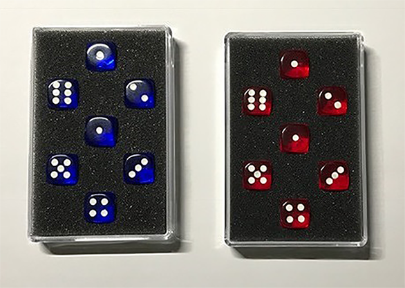 Prediction Gimmicked Dice Red (7 Dice) - Kreis