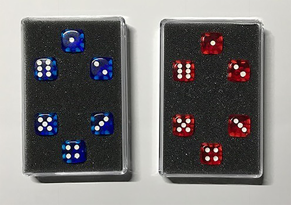 Perfect Prediction Dice Red (6 Dice) - Kreis