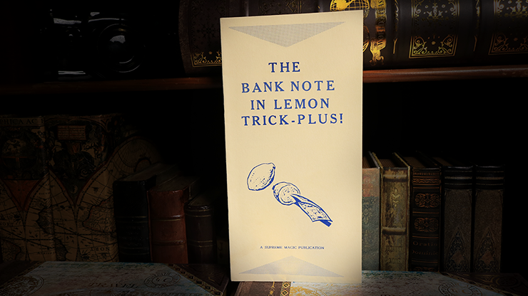 The Bank Note in Lemon Trick - Book