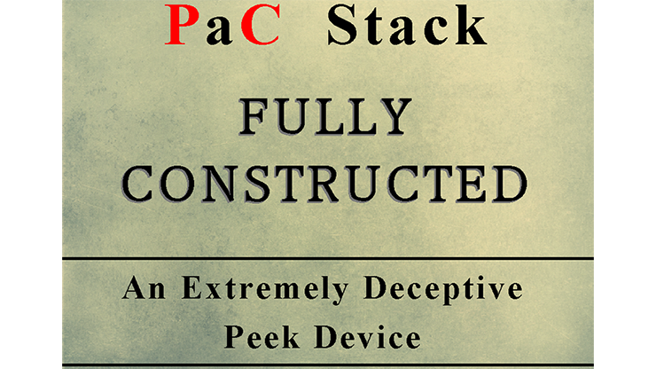 PaC Stack: Fully Constructed (Gimmicks & Instrucciones Online) - Paul Carnazzo
