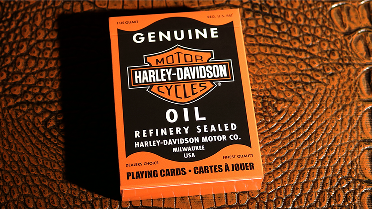 Harley Davidson Oil Playing Cards - USPCC