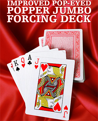 Improved Pop-Eyed Popper Jumbo Forcing Deck (Red) - Trick