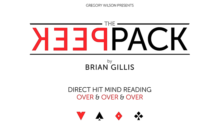 Gregory Wilson Presents The Peek Pack by Brian Gillis (Gimmicks and Online Instructions) - Trick