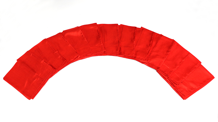 Silks 15 inch 12 Pack (Red) Magic by Gosh - Trick