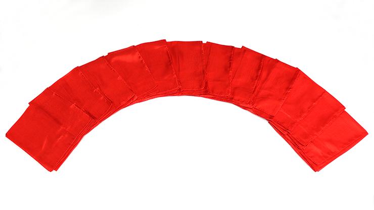 Seda para Trucos de Magia 15 pulgadas 12 Piezas (Rojo) Magic by Gosh