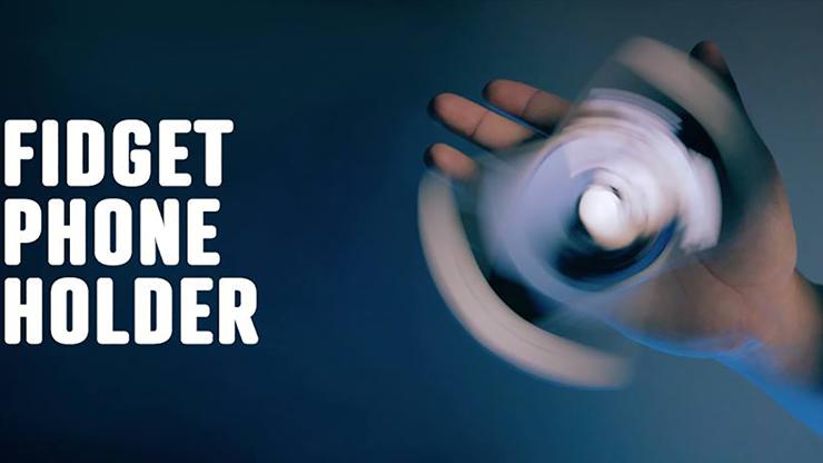 Fidget Phone Holder NEGRO (Gimmick & Instrucciones Online)