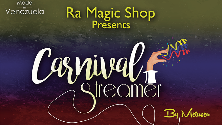 Carnival Streamer Halloween (NARANJA & NEGRO) - Ra Magic