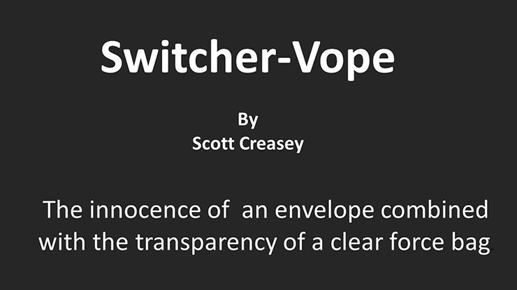Switcher Vope by Scott Creasey video DOWNLOAD