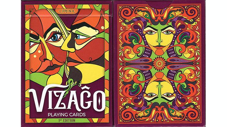 VIZAGO Lumina (Red) Playing Cards Poker Kartenspiel Spielkarten