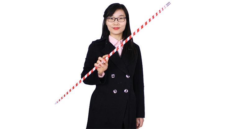 Appearing Cane (Plastic, RED & WHITE STRIPED) by JL Magic
