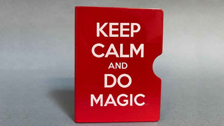 Keep Calm and Do Magic Card Guard (Red) by Bazar de Magia