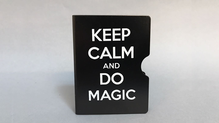 Keep Calm and Do Magic Card Guard (Black) by Bazar de Magia