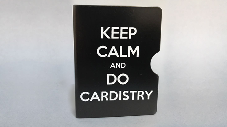 Keep Calm and Do Cardistry Card Guard (Black) by Bazar de Magia
