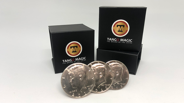 Triple TUC Half Dollar (D0183) Gimmicks and Online Instructions by Tango