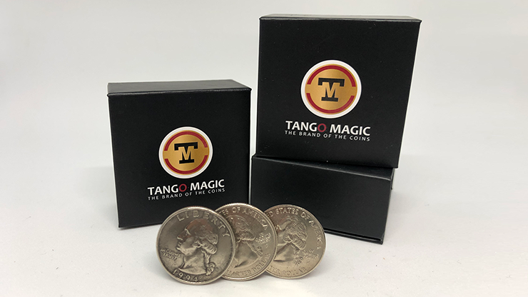 Triple TUC Quarter (Gimmicks and Online Instructions) by Tango - Trick