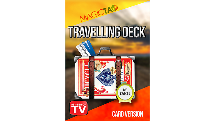 Travelling Deck Card Version Blue (Gimmick and Online Instructions) by Takel Kartenspiel bis auf Zuschauerkarte verschwinden lasse
