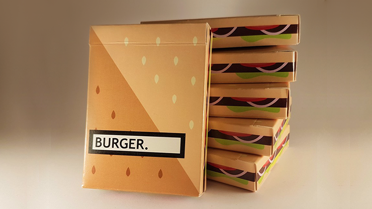 Burger Playing Cards Created - FLAMINKO Playing Cards
