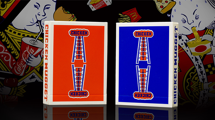 Chicken Nugget Playing Cards - AZUL