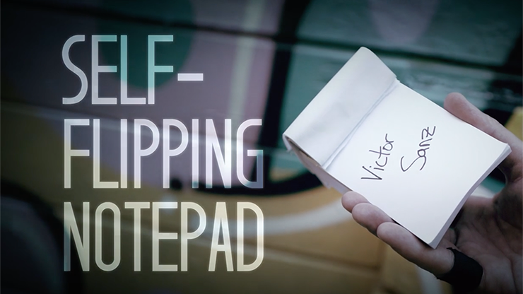 Self-Flipping Notepad (DVD & Gimmick) - Victor Sanz - DVD