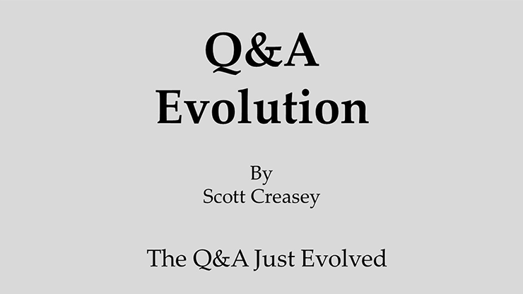 Q&A Evolution by Scott Creasey video DOWNLOAD