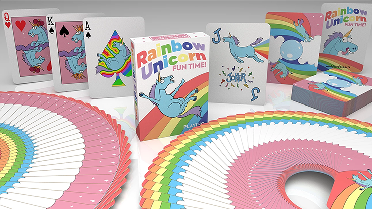Rainbow Unicorn Fun Time! Playing Cards by Handlordz Poker Kartenspiel Spielkarten