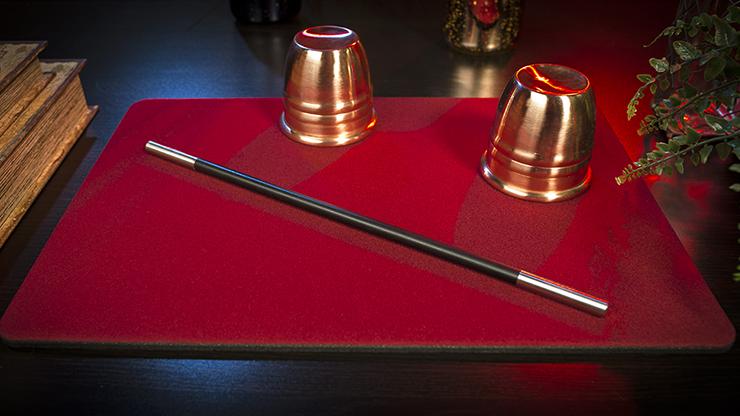 Tapete para Magia Estandar 27cm X 40cm (Rojo)