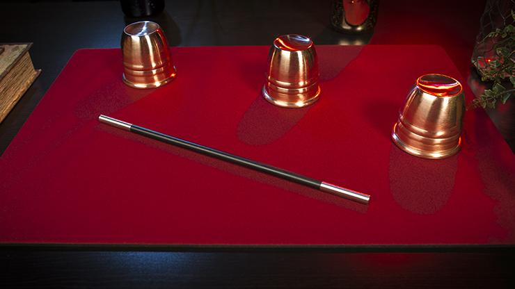 Tapete para Magia Economico 40cm X 58cm (Rojo)