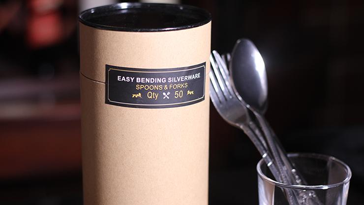 Easy Bending Silverware Spoons & Forks (50 ct.) Spezielle Gabeln und Löffel für Verbiege-Routinen