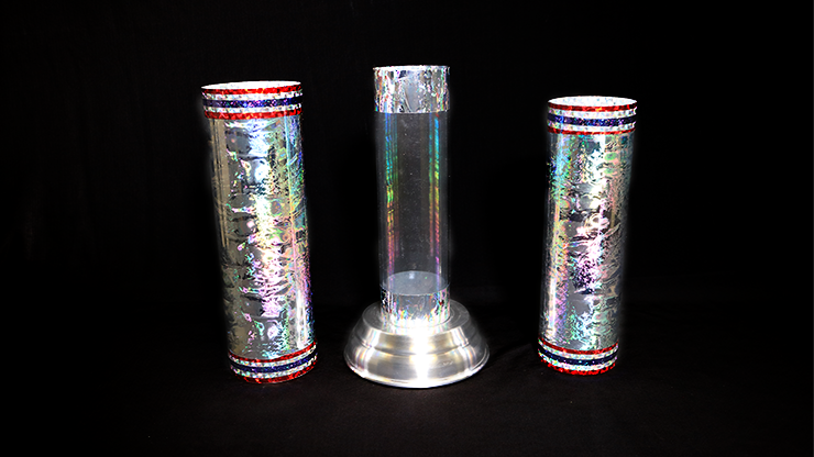 Large Crystal Silk Cylinder by Ickle Pickle