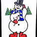 Instant Art Frame Insert - Frosty the Snowman by Ickle Pickle - Tricks