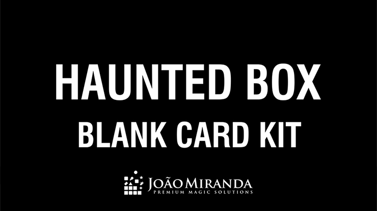 Blank Card Kit for Haunted Box by João Miranda - Trick